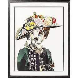 Obraz Kare Design Art Lady Dog, 72 × 90 cm